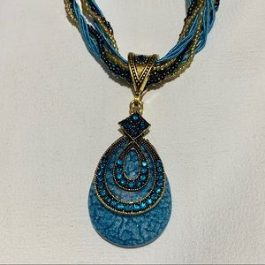 Jewelry - Bohemian Style Teardrop Rhinestones Necklace